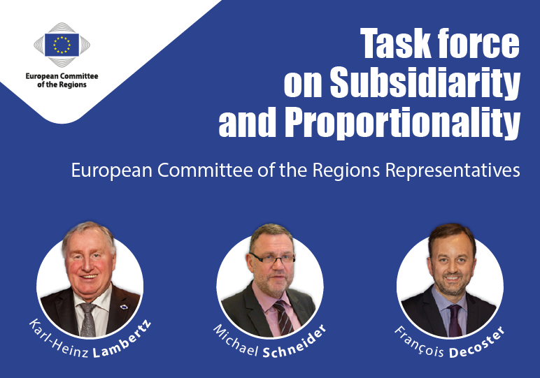 Statement from the CoR members of the Subsidiarity Task Force following the appointment of its members