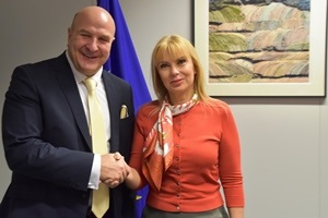 A space strategy for Europe: Andres Jaadla meets Commissioner Bieńkowska