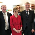 Political leaders visit Edinburgh