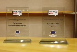 "Antwerp Province's ""Pop up Europe"" initiative receives European Public Communication Award"