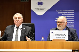 """Today's challenges cannot only be tackled at national and European level"", says EU Commission First Vice-President Timmermans"
