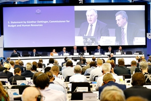 Local leaders and EU Commissioner Oettinger: adopt EU budget before European elections to ensure investment continuity