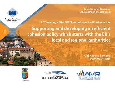 22nd COTER Commission meeting and conference on Supporting and developing an efficient cohesion policy which starts with the EUs local and regional authorities