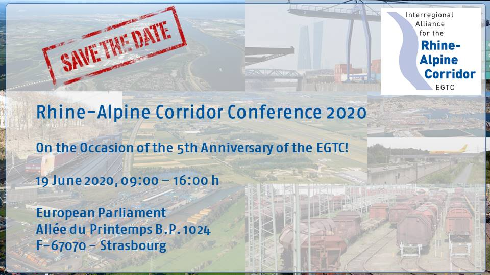 Save the Date: Fifth anniversary of the EGTC Interregional Alliance for the Rhine-Alpine Corridor