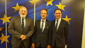 Mr Abramavicius meeting EC 1st Vice-President Frans Timmermans and EC Vice-President Jyrki Katainen
