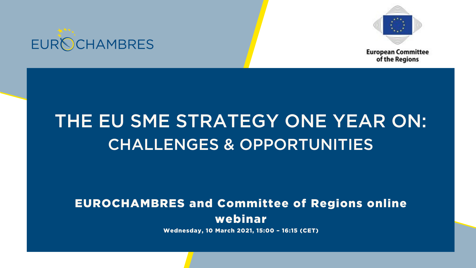 Joint ECON - CoR - Eurochambres webinar 'EU SME Strategy one year on'
