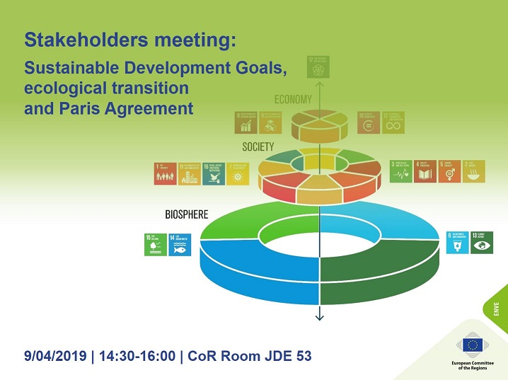 ENVE Commission - Stakeholders consultation on Sustainable Europe for 2030: SDG, ecological transition and the Paris Agreement