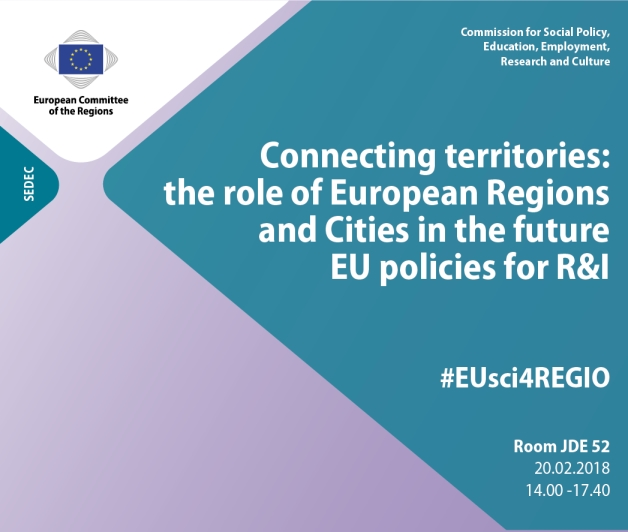 Connecting territories: the role of European Regions and Cities in the future EU policies for R&I