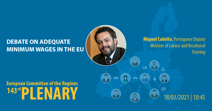 Debate on adequate minimum wages in the European Union - Miguel CABRITA, Portuguese Deputy Minister of Labour and Vocational Training