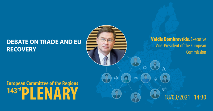 Debate on trade and EU recovery - Valdis DOMBROVSKIS, Executive Vice-President of the European Commission in charge of an Economy that works for People, and Commissioner for Trade