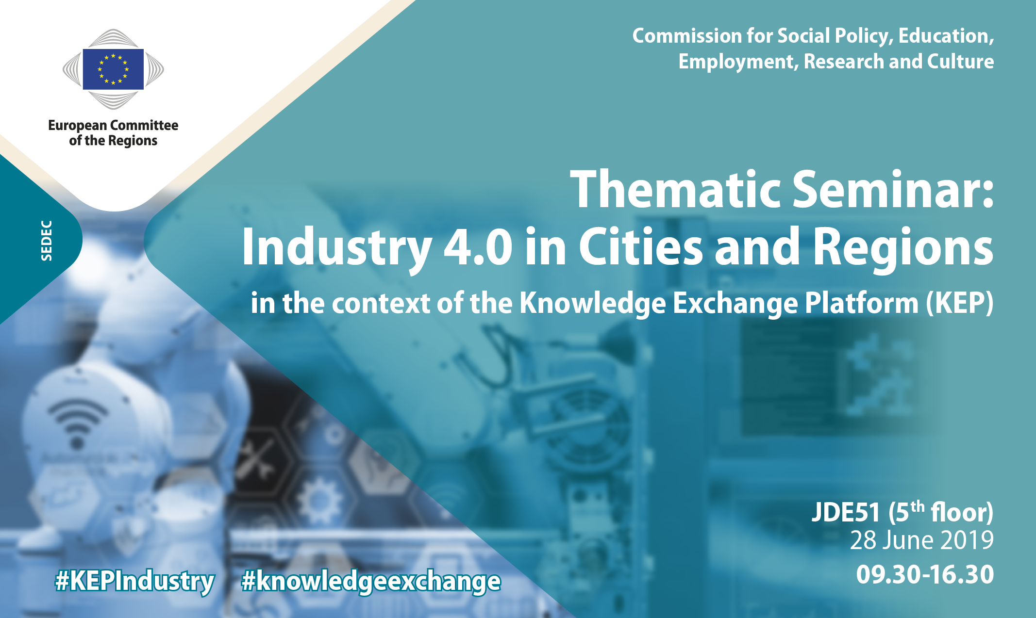 Thematic Seminar - Industry 4.0 in Cities and Regions - in the context of the Knowledge Exchange Platform (KEP)