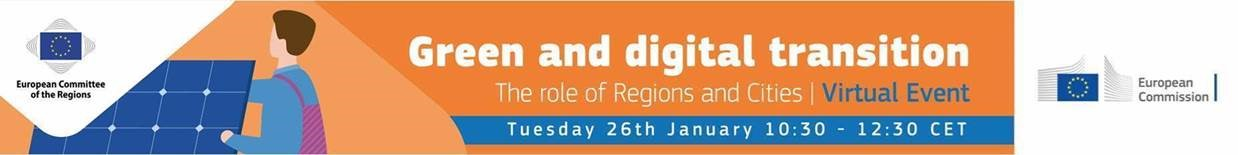Green and digital transition. The role of Regions and Cities