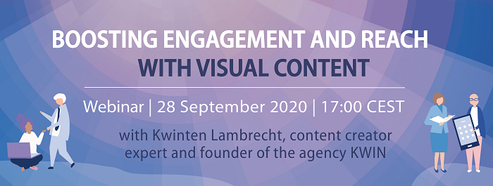 Sign-up to our next Digital Masterclass on 28 September: Boosting engagement and reach with visual content - Practical session