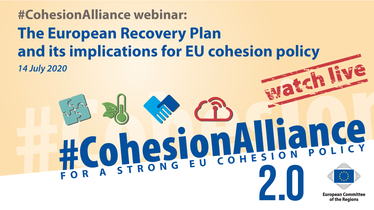 #CohesionAlliance webinar: The European Recovery Plan and its implications for EU cohesion policy