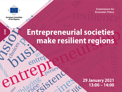 Entrepreneurial societies make resilient regions – Webinar summary