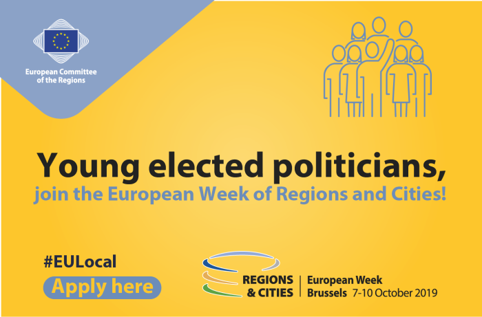 Young elected politician? Apply for #EURegionsweek 2019 specific programme!