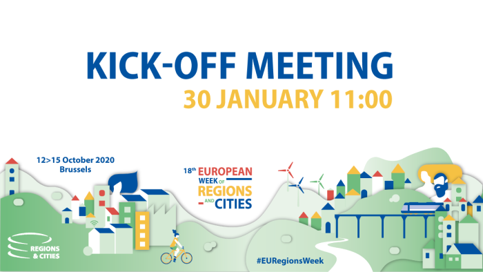 European Week of Regions and Cities 2020 – Kick-Off meeting