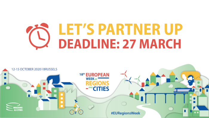 Partner up for the European Week of Regions and Cities 2020: deadline 27 March!