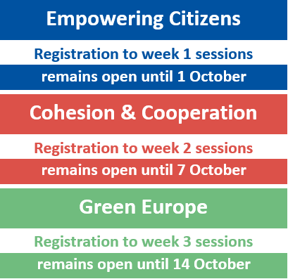 #EURegionsWeek 2020 - Registration deadline extended