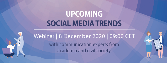 Sign-up to our last Digital Masterclass on 8 December: Upcoming social media trends