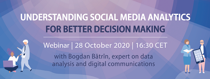 Sign-up to our next Digital Masterclass on 28 October: Understanding Social Media Analytics for better decision making - Practical session.